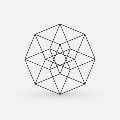 35075532 - geometric element, line design, star shape